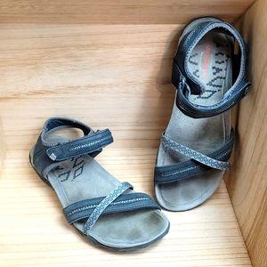 Merrel Womens Gray Strap Sandals Slate